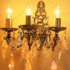 Бра Бронзовая 3 лампы №1